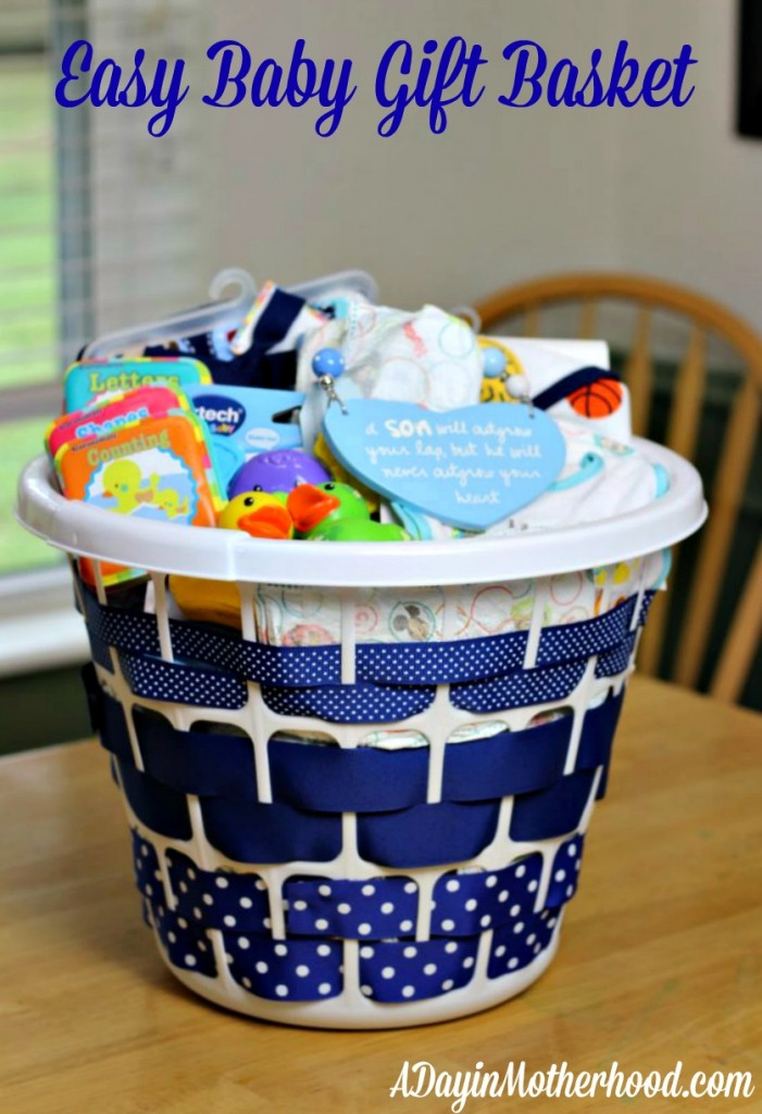 Diy Baby Shower Gift Ideas For Boys  Easy Baby Gift Basket