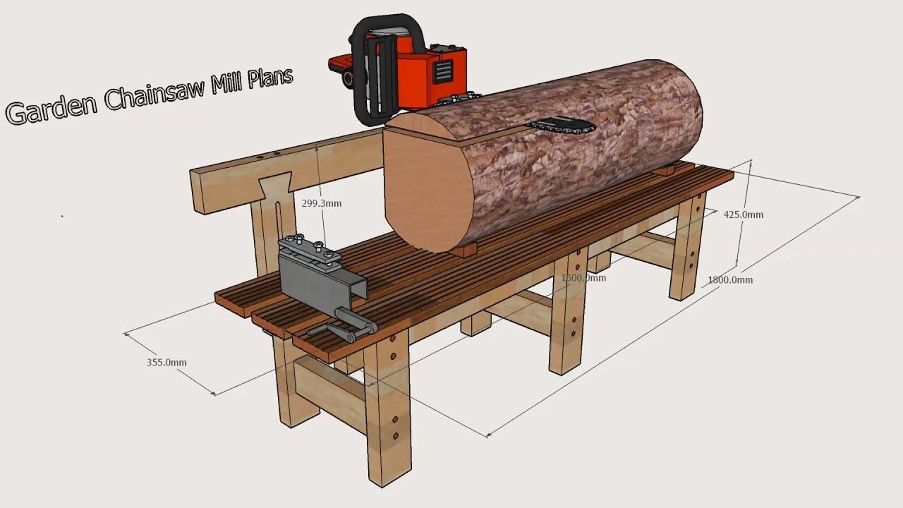 DIY Chainsaw Mill Plans  Garden Chainsaw Mill Plans
