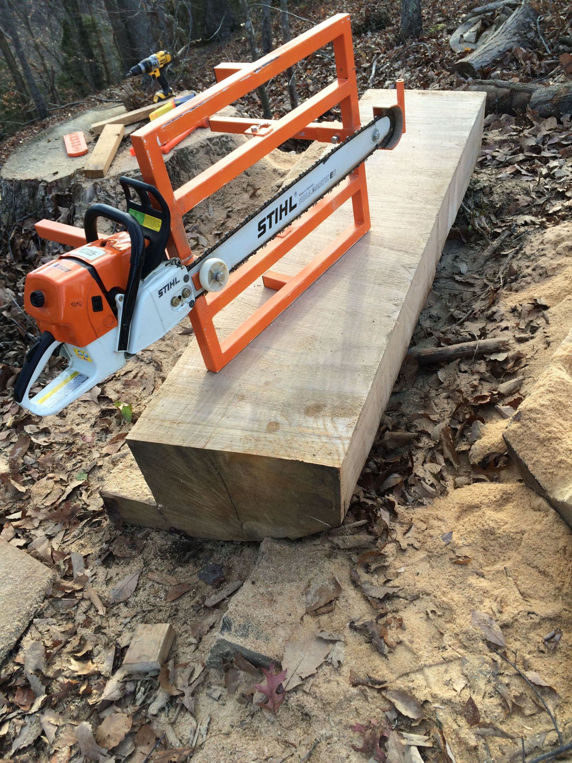 DIY Chainsaw Mill Plans  My homemade chainsaw mill Eugene Schwanbeck