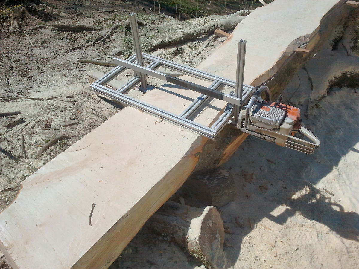 DIY Chainsaw Mill Plans  The gallery for Homemade Chainsaw Sawmill Plans