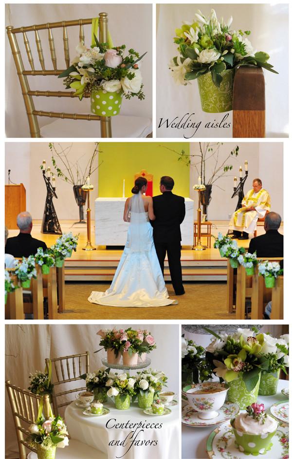DIY Church Wedding Decorations  Church Aisle Decorations DO DOUBLE DUTY as Centerpieces