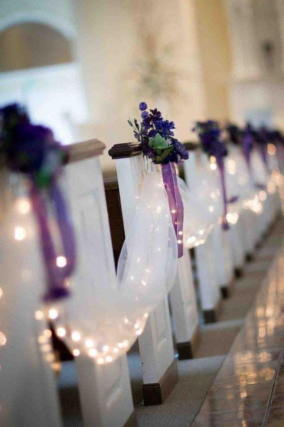 DIY Church Wedding Decorations  41 best Aisle & Pew Decor images on Pinterest