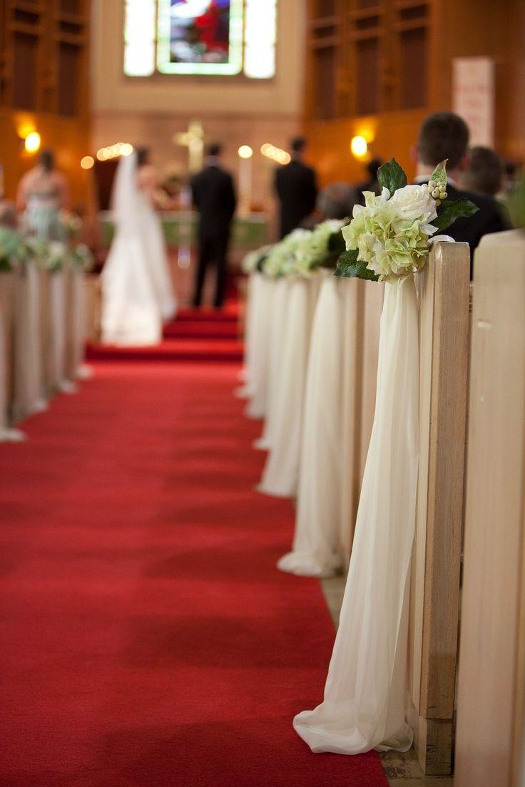 DIY Church Wedding Decorations  diy church pew decorations Google Search