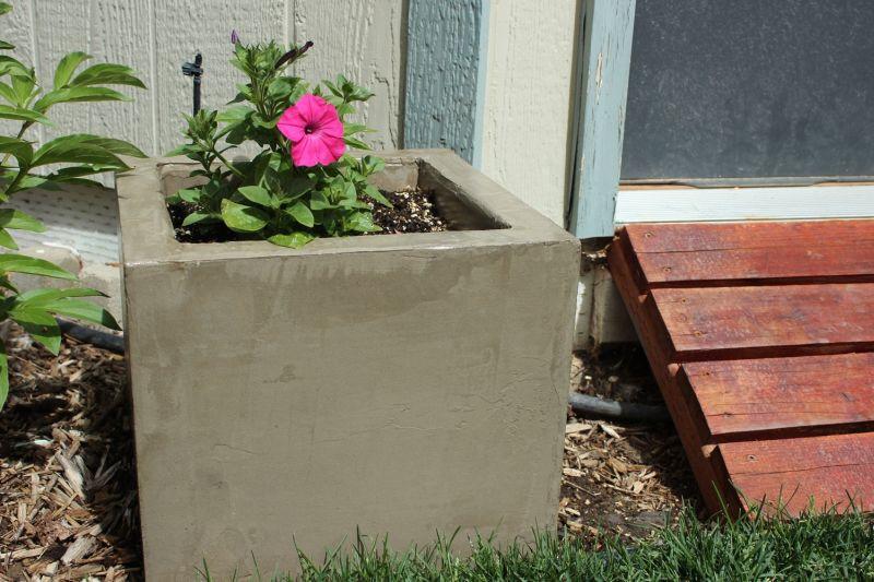 DIY Concrete Planter Box  DIY Modern Minimal Concrete Planter Boxes