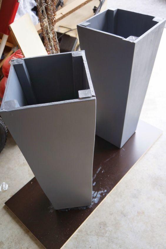 DIY Concrete Planter Box  70 DIY Planter Box Ideas Modern Concrete Hanging Pot