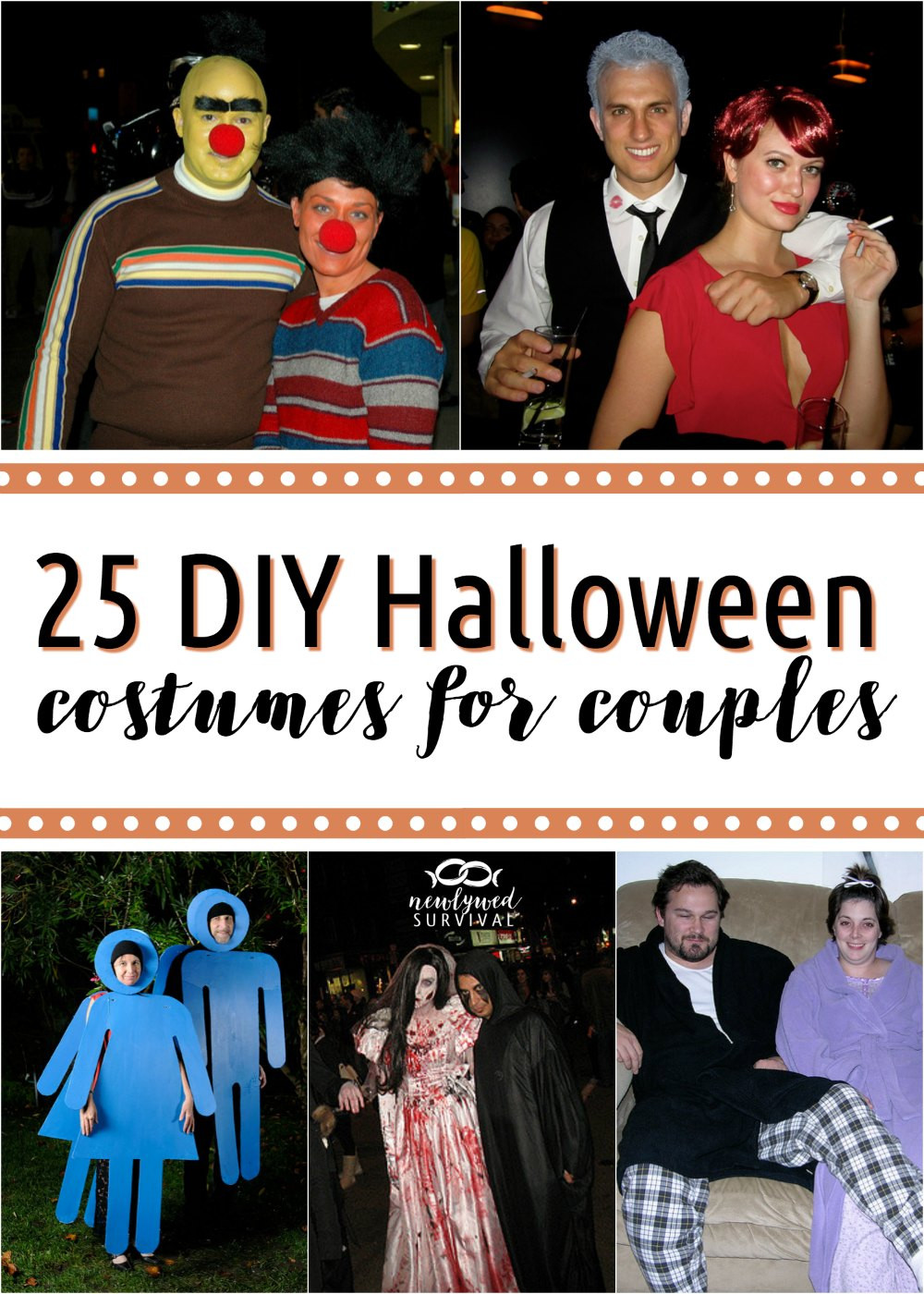 DIY Couple Costumes  25 DIY Costumes for Couples Newlywed Survival