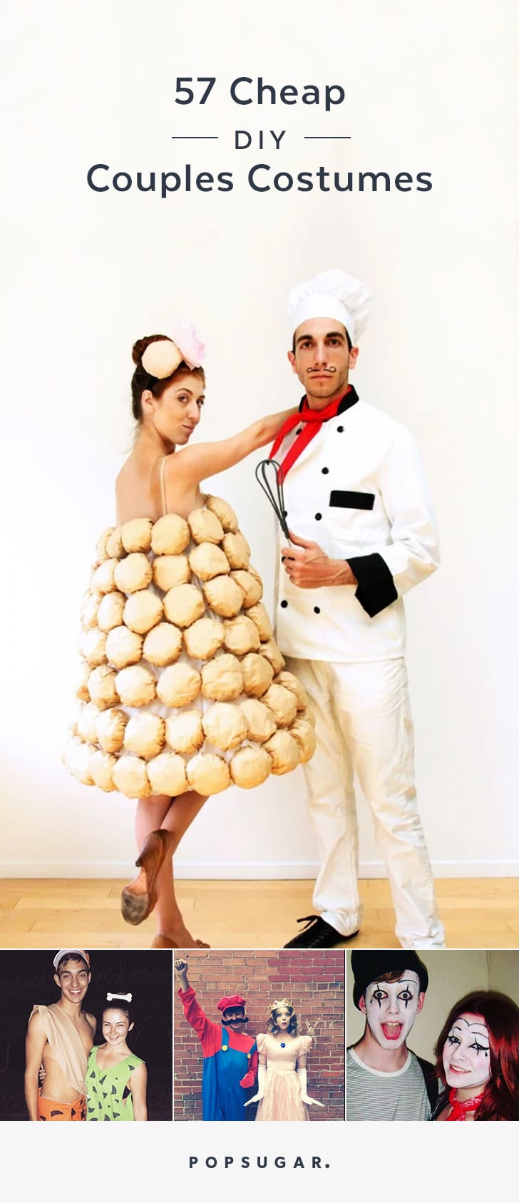 DIY Couple Costumes  Pin it Cheap DIY Couples Halloween Costumes