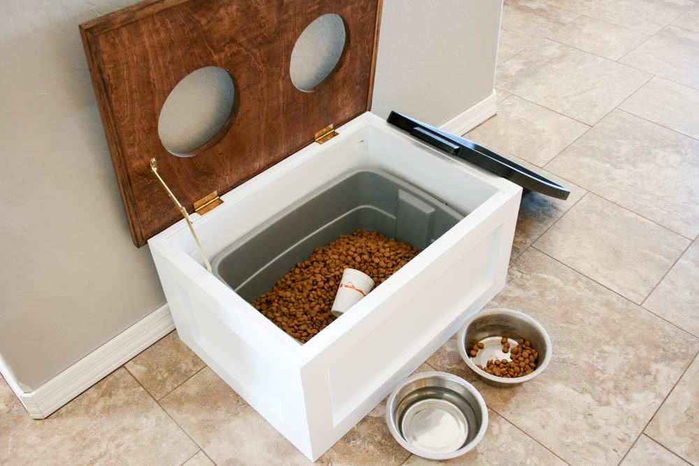 DIY Dog Food Storage  DIY Dog Food Station with Storage Addicted 2 DIY