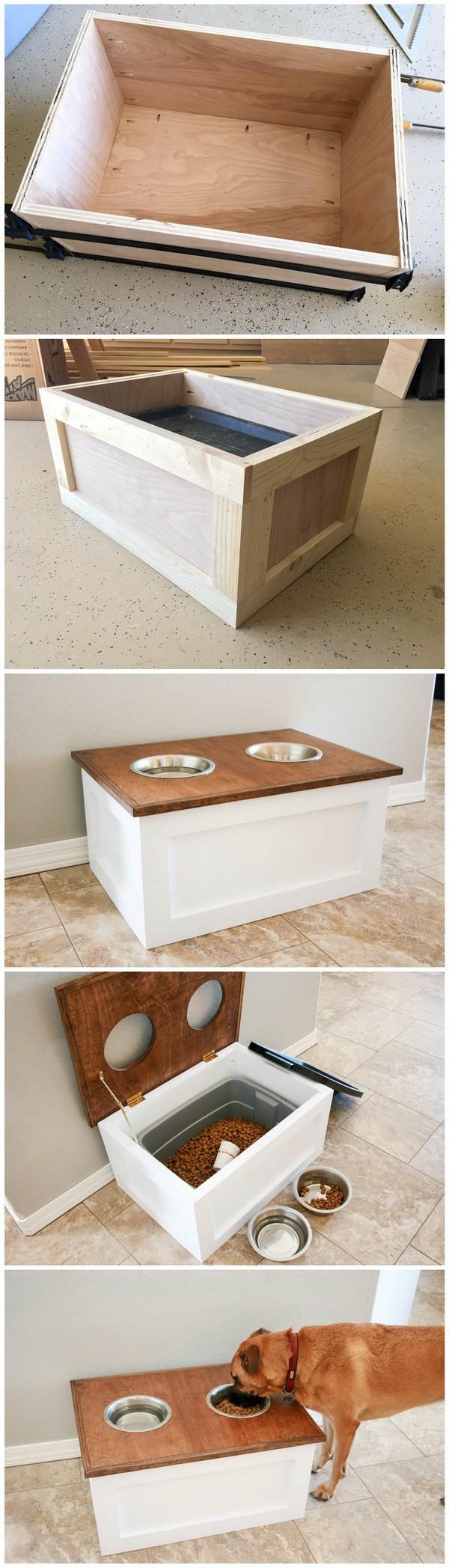 DIY Dog Food Storage  26 Quick Furniture Makeover DIYs – Page 21 – Great DIYs