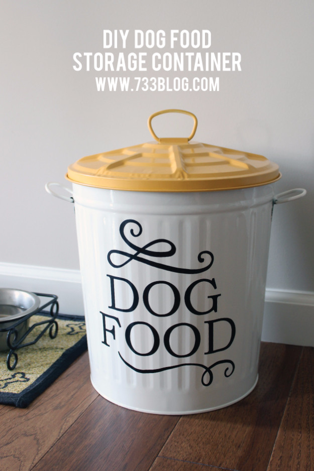 DIY Dog Food Storage  33 Dog Hacks You Need To Try Today