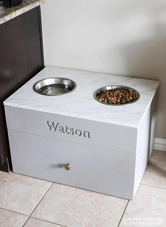 DIY Dog Food Storage  How To Make A DIY Dog Food Station Pet Feeding Station