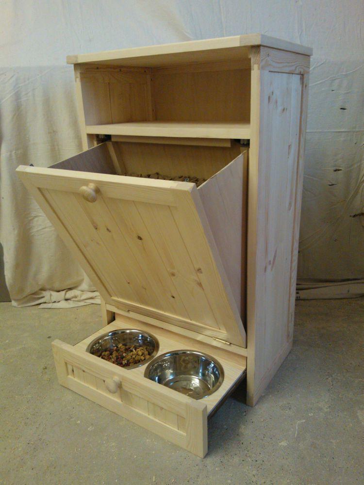 DIY Dog Food Storage  Pet Food Cabinet Storage Organizer Cat Dog Feeding