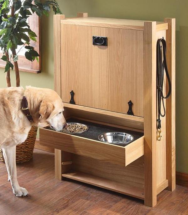 DIY Dog Food Storage  20 Gorgeous DIY Dog Feeding Station Projects