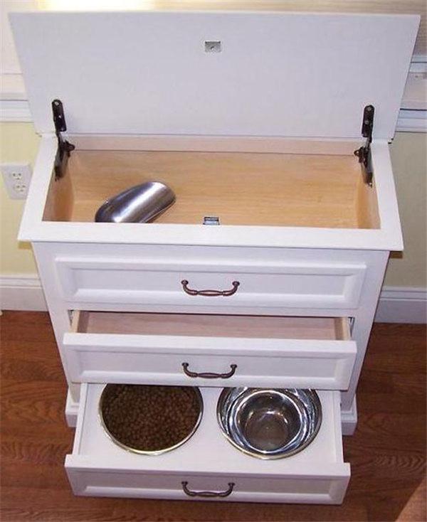DIY Dog Food Storage  DIY Dog Feeding Station Ideas Your Pet Will Like