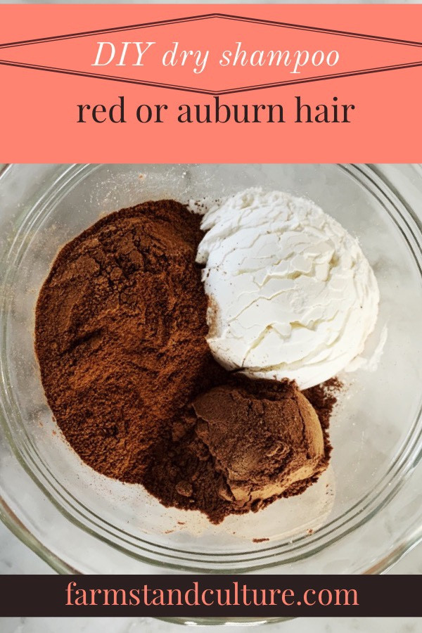 DIY Dry Shampoo For Red Hair  DIY dry shampoo for red hair — farmstand culture