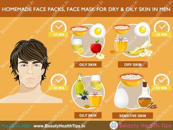DIY Face Mask For Oily Skin  Homemade Face Packs Face Mask For Dry And Oily Skin In Men