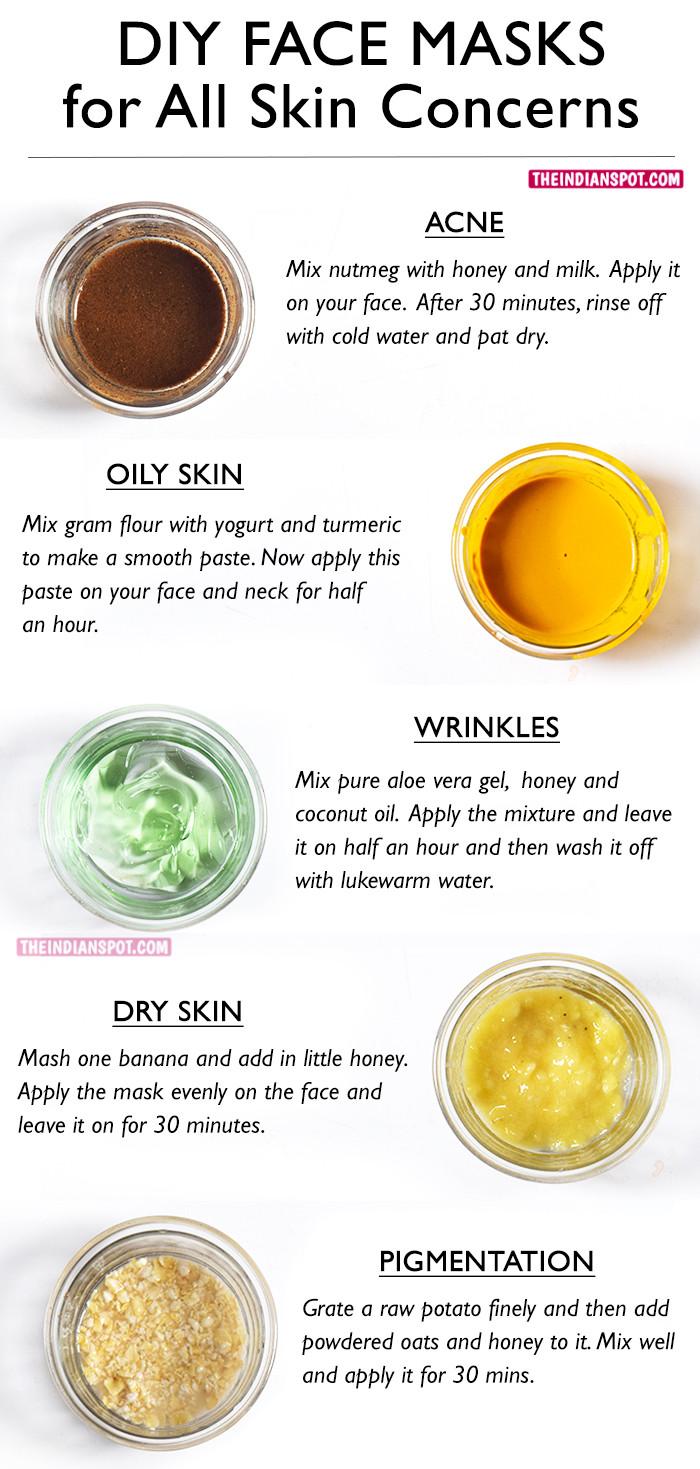DIY Face Mask For Oily Skin  BEST DIY FACE MASKS FOR YOUR BIGGEST SKIN PROBLEMS