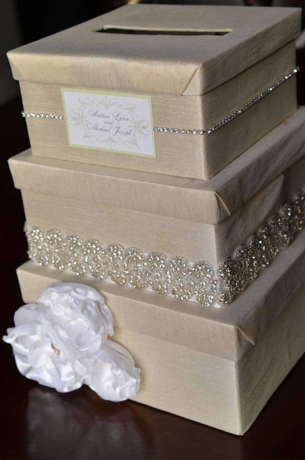 DIY Gift Card Boxes  DIY Wedding Card Box Tutorial Andrea Lynn HANDMADE