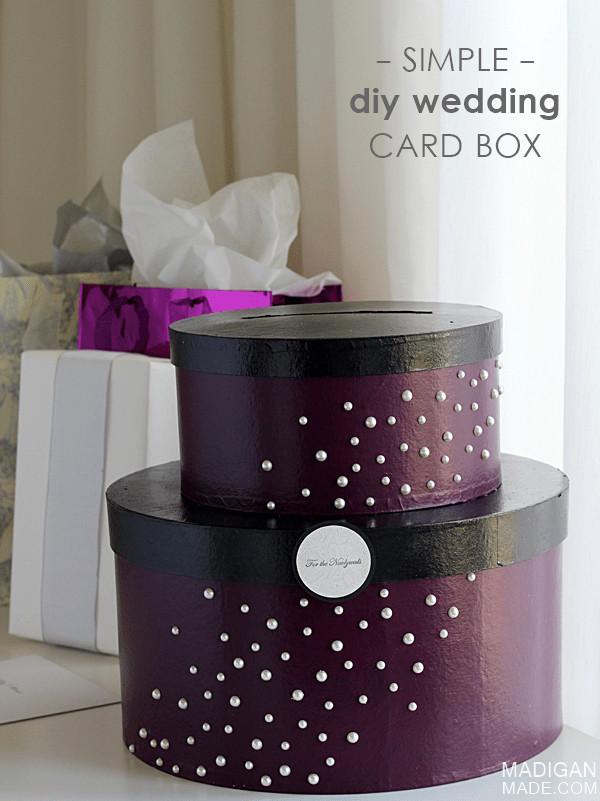 DIY Gift Card Boxes  Simple & Elegant DIY Wedding Card Box Rosyscription