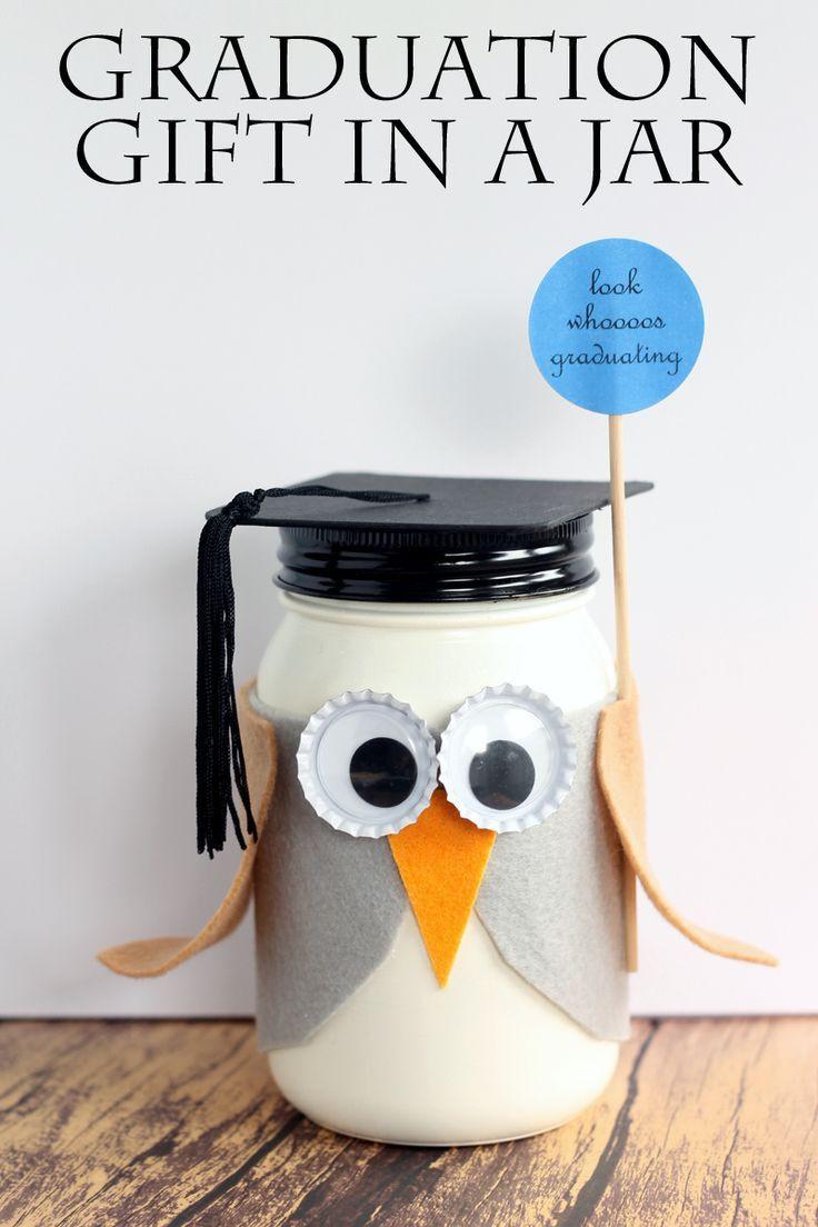 Diy Graduation Gift Ideas For Him  Graduation Mason Jar Gift