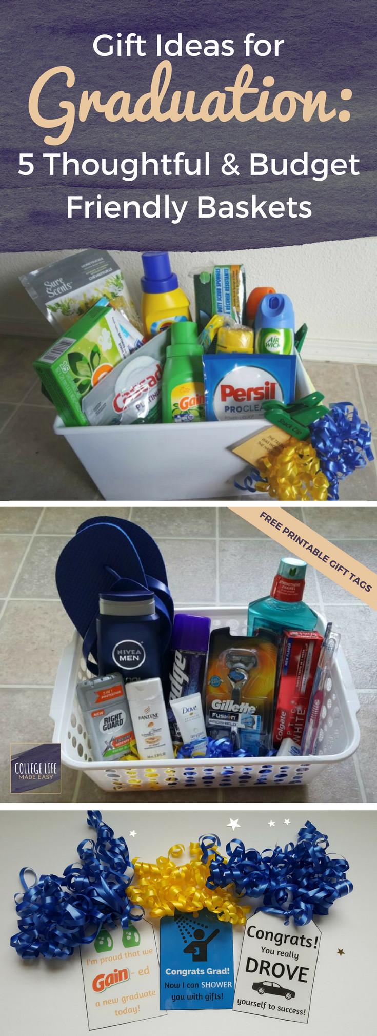 Diy Graduation Gift Ideas For Him  5 DIY Going Away to College Gift Basket Ideas for Boys