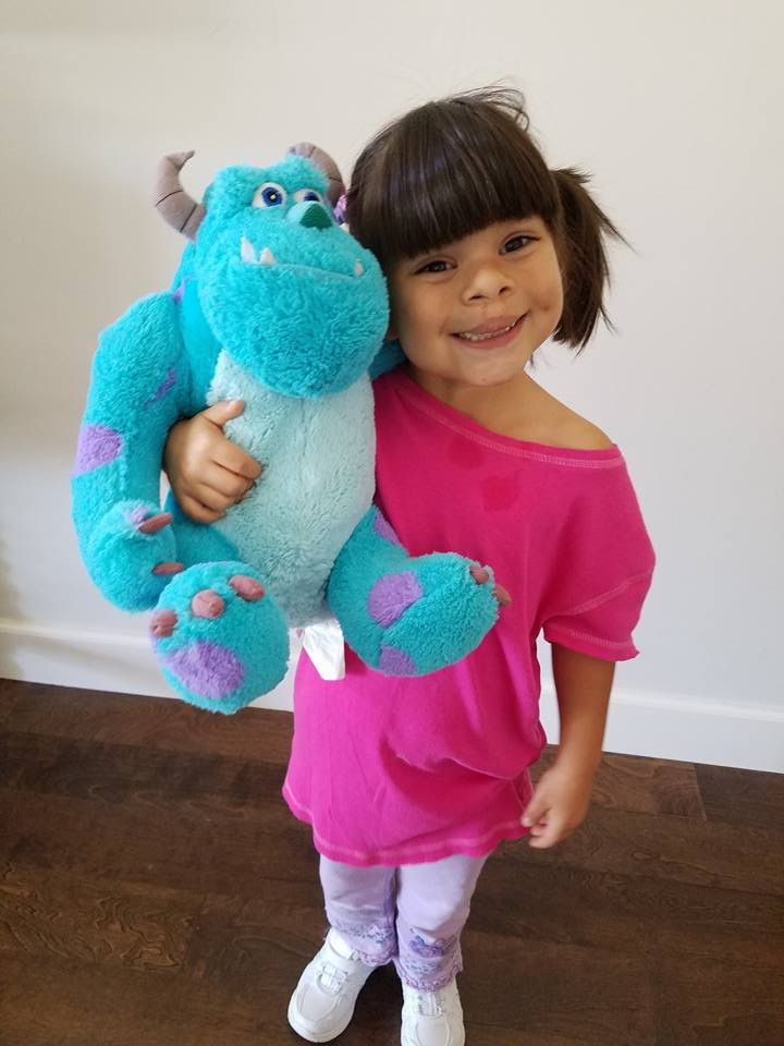 DIY Monsters Inc Costume  Boo costume Easy DIY No Sew Boo Costume for this Halloween