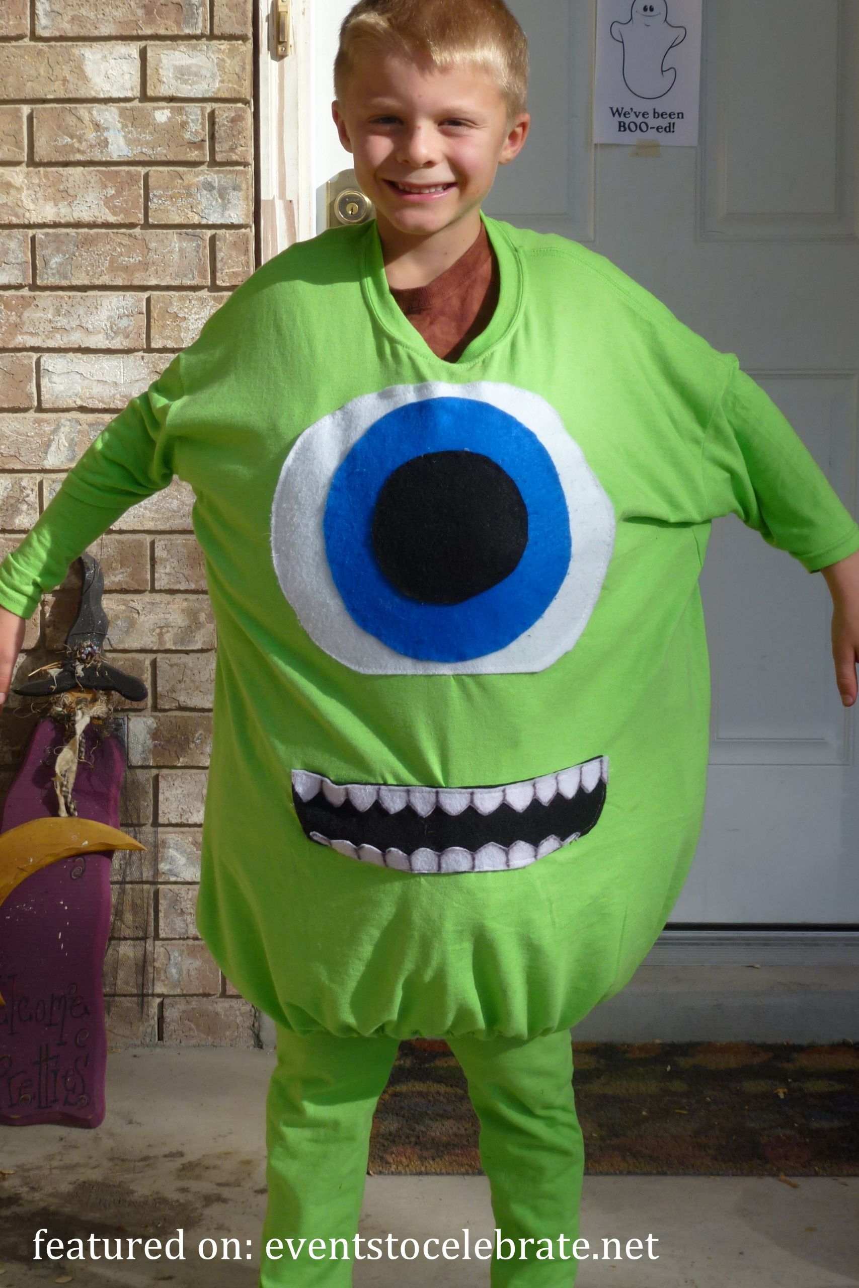DIY Monsters Inc Costume  DIY Halloween Costumes events to CELEBRATE