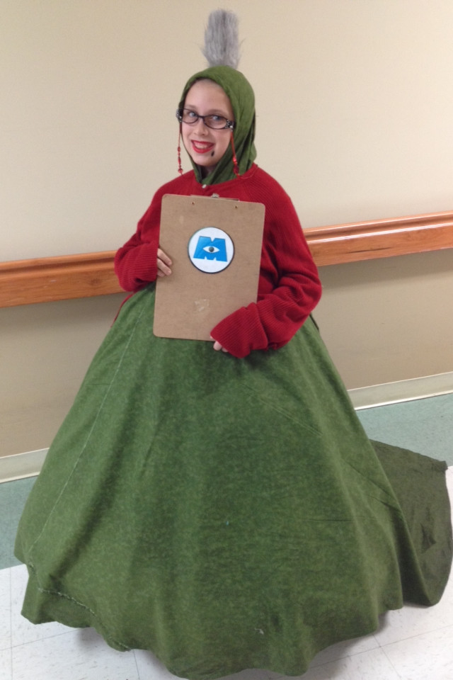 DIY Monsters Inc Costume  Roz from monsters inc diy costume
