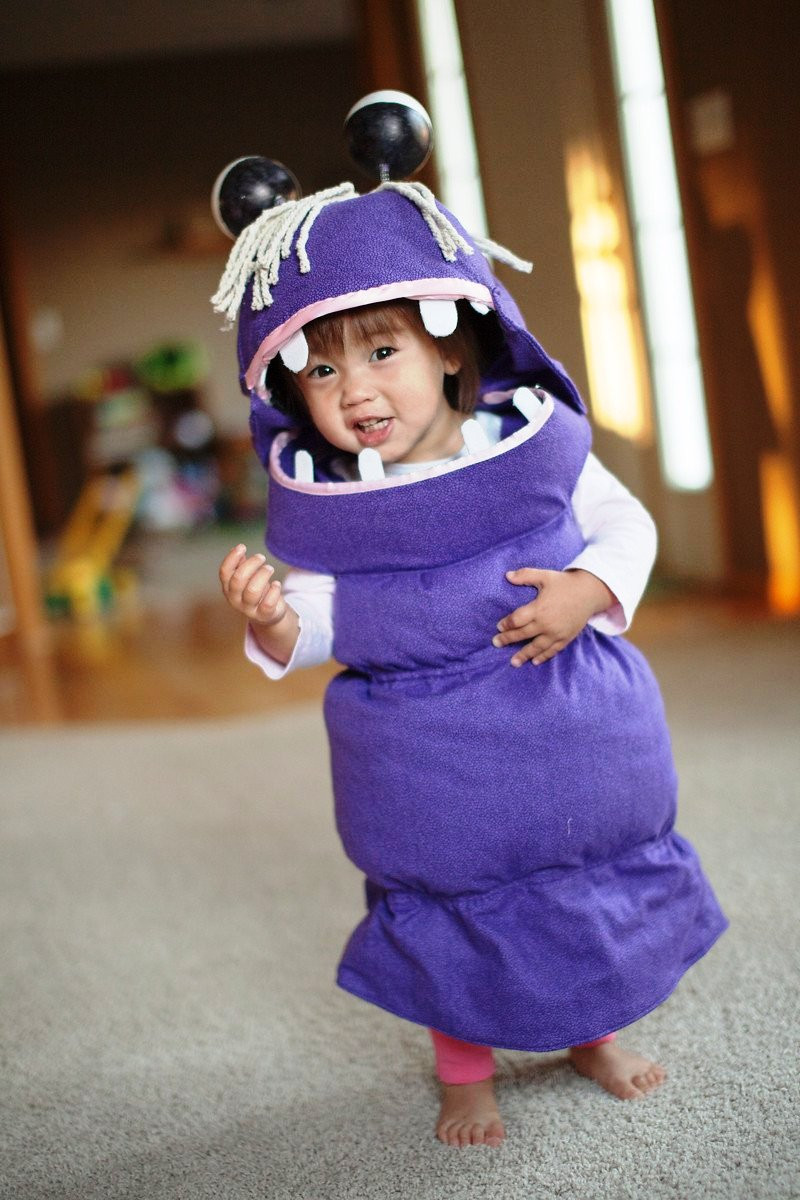 DIY Monsters Inc Costume  50 Adorable Baby Wearing Halloween Costumes To Make You