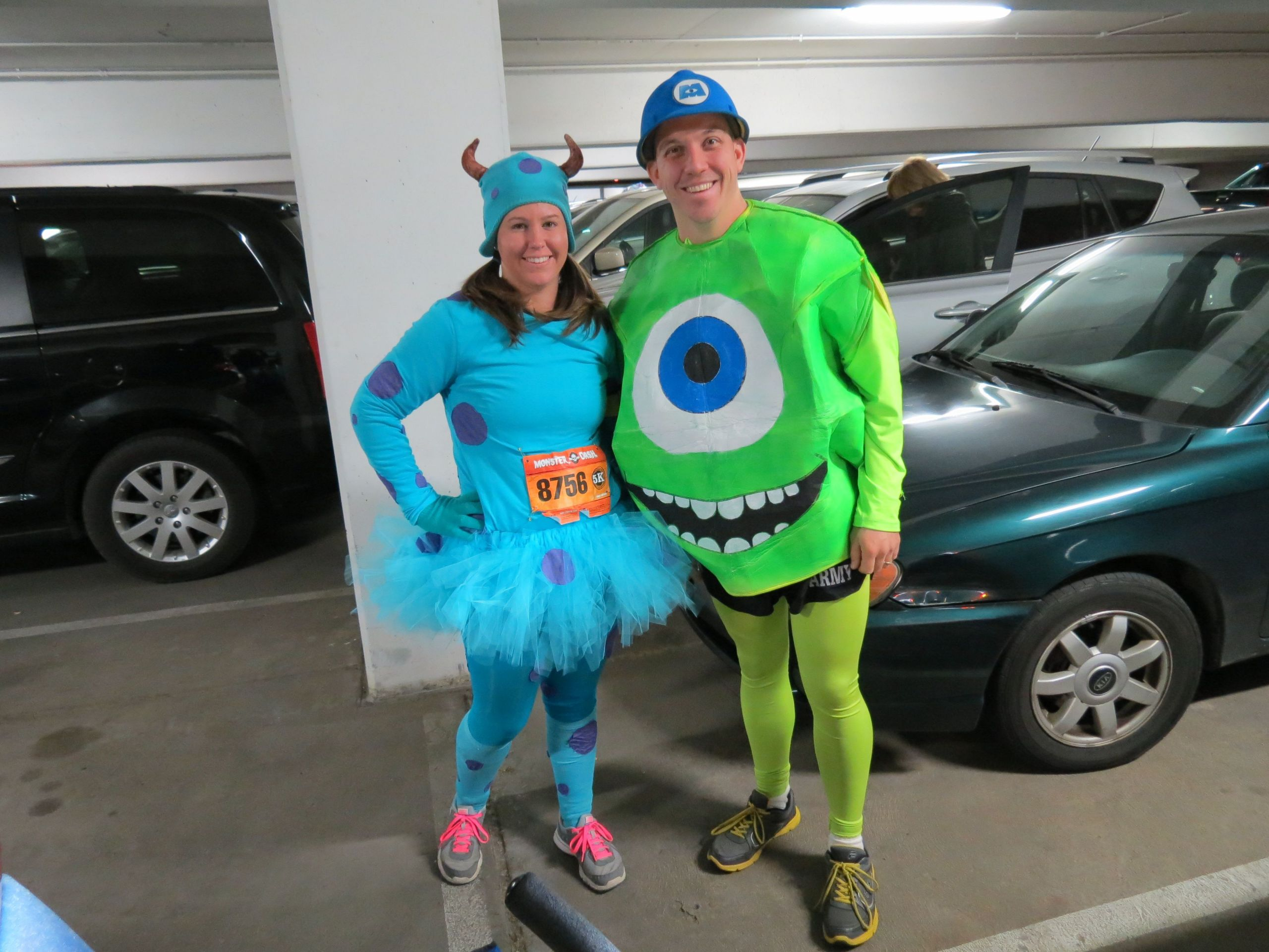 DIY Monsters Inc Costume  Homemade adult Monsters Inc costumes Sully and Mike