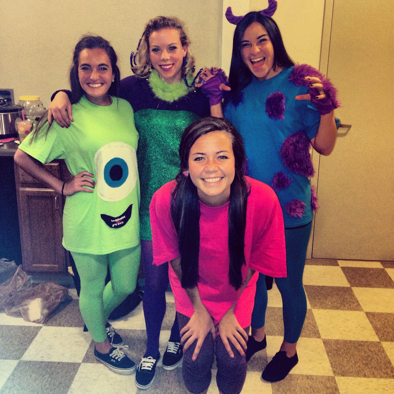 DIY Monsters Inc Costume  Monster Inc group costume Ideas Pinterest