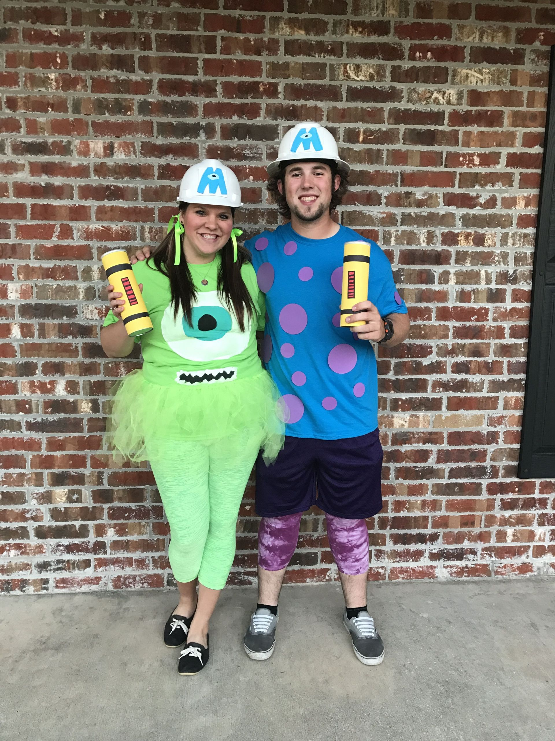 DIY Monsters Inc Costume  Mike and Sully Halloween costume diy monsters inc