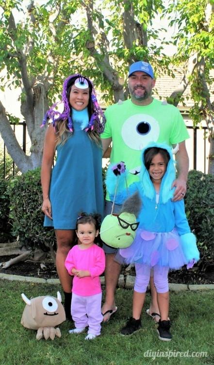 DIY Monsters Inc Costume  Monster's Inc Family Halloween Costumes DIY Inspired