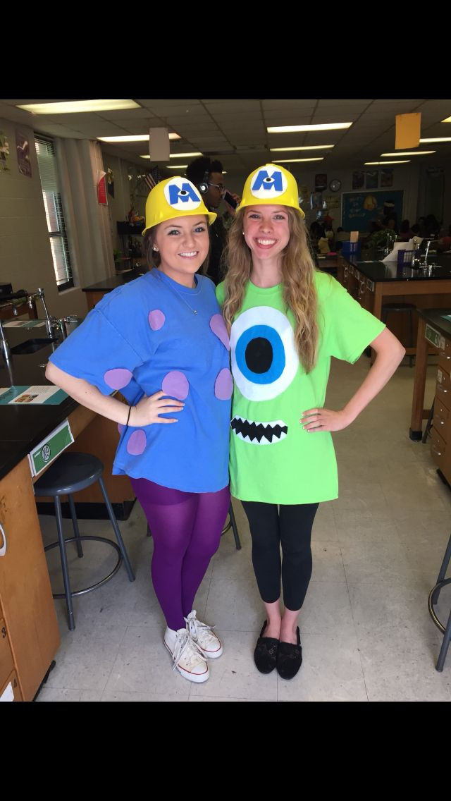 DIY Monsters Inc Costume  Monsters Inc Mike & Sully DIY outfit
