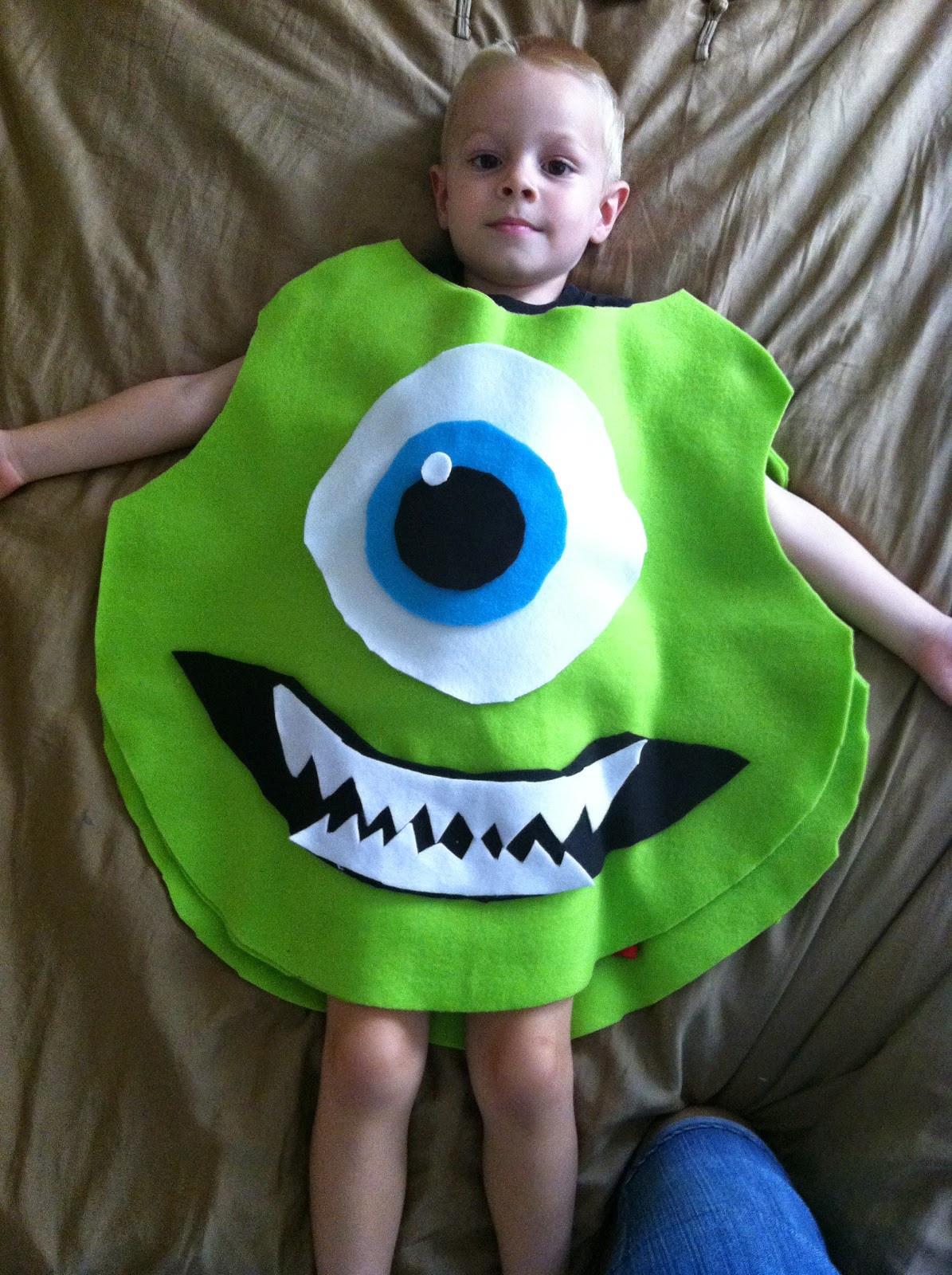 DIY Monsters Inc Costume  Chadwicks Picture Place Homemade Mike Wazowski Halloween