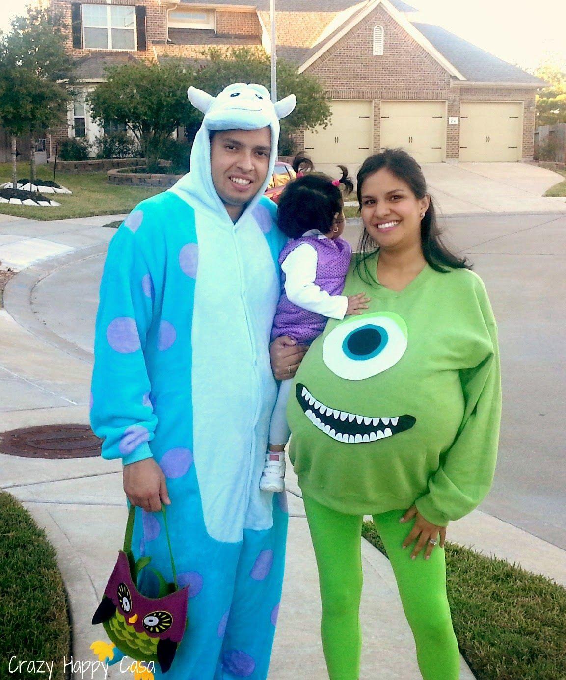 DIY Monsters Inc Costume  Crazy Happy Casa Halloween Recap Monsters Inc DIY Family