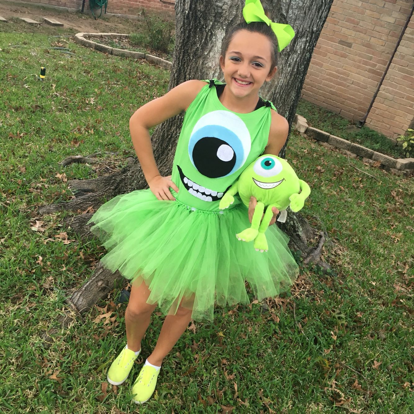 DIY Monsters Inc Costume  Our own Monsters Inc costume for Halloween