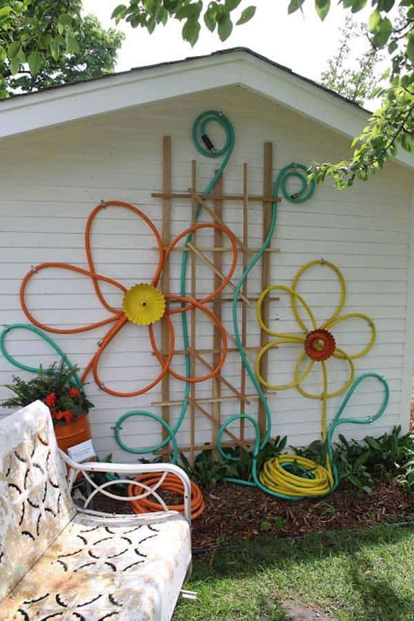 DIY Outdoor Art  Simple Low Bud DIY Garden Art Flower Yard Projects To