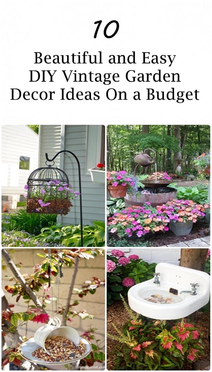 DIY Outdoor Art  10 Beautiful and Easy DIY Vintage Garden Decor Ideas a