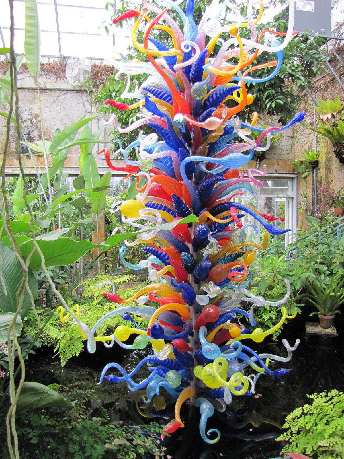 DIY Outdoor Art  Easy 10 DIY Glass Yard Art Design Ideas For Your Garden