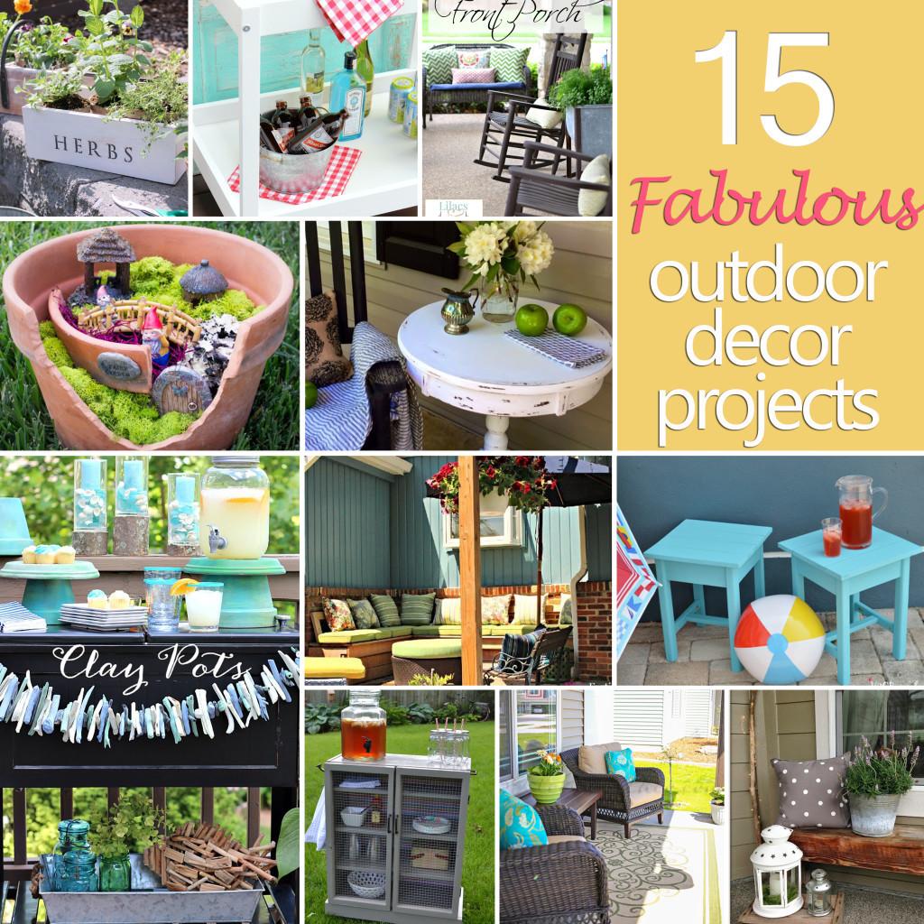 DIY Outdoor Art  15 Fabulous Outdoor Decor Projects DIY Challenge Features