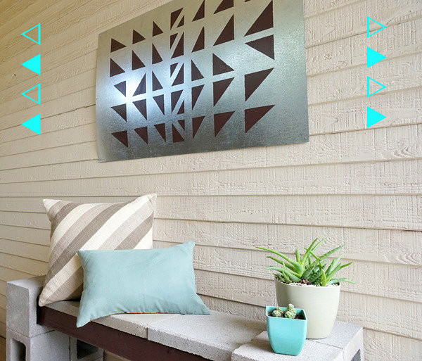 DIY Outdoor Art  A Geo DIY Wall Art Project For The Outdoors
