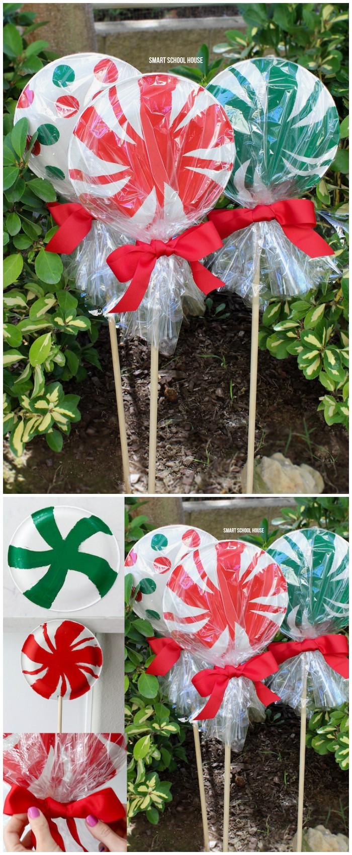DIY Outdoor Art  21 Cheap DIY Outdoor Christmas Decorations • DIY Home Decor