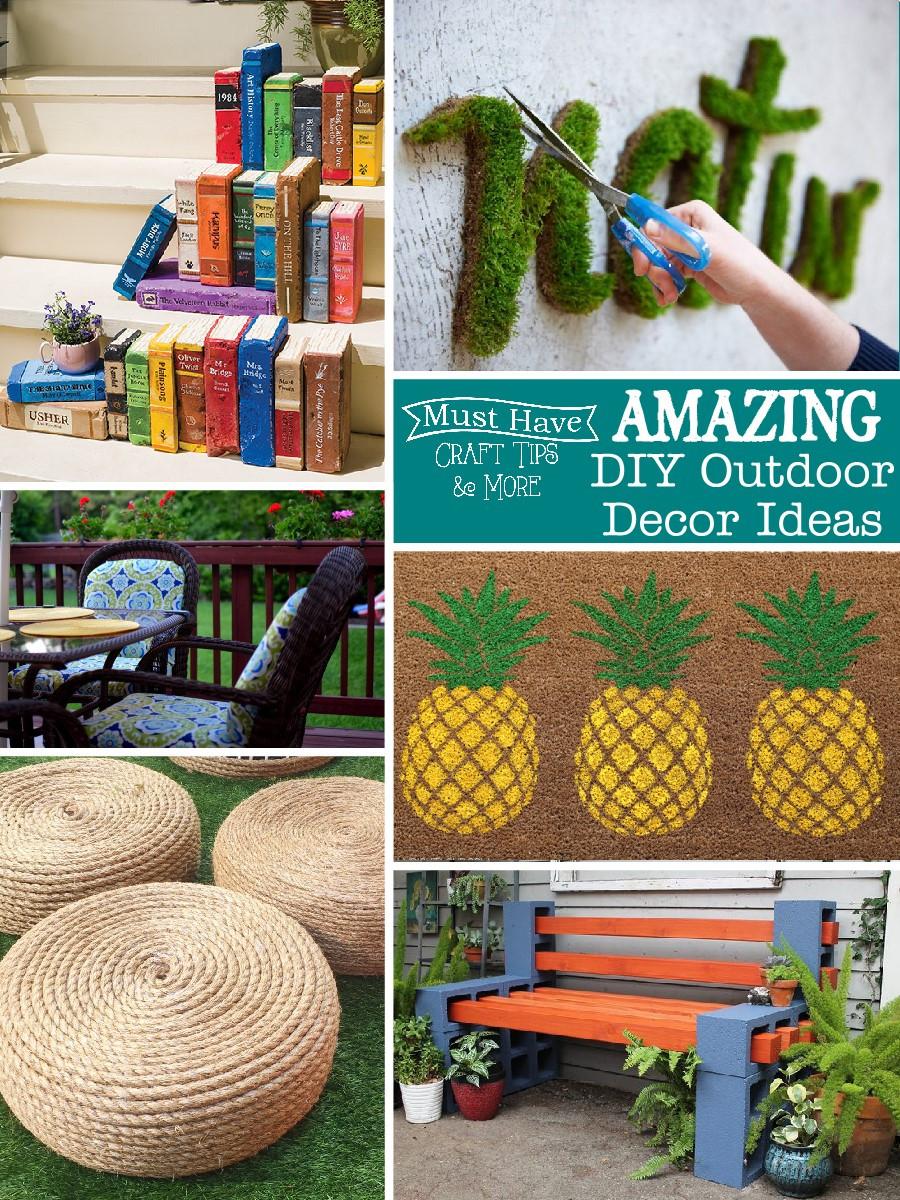 DIY Outdoor Art  Amazing DIY Outdoor Decor Ideas The Scrap Shoppe