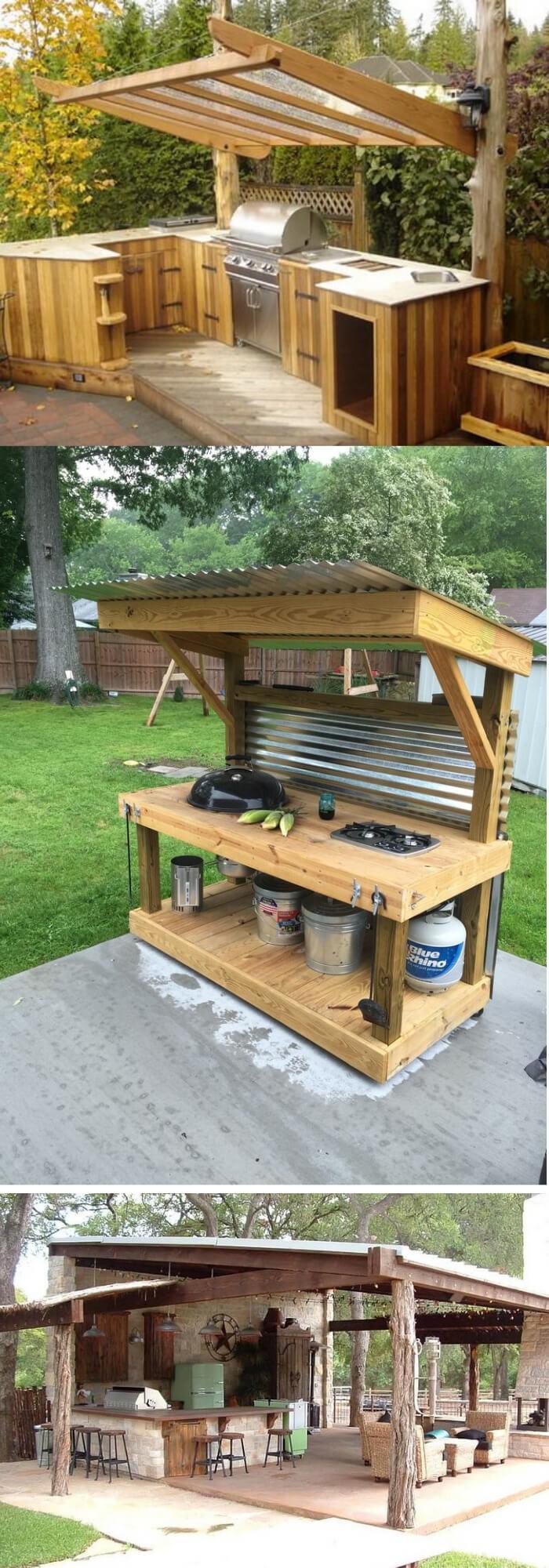 Diy Outdoor Kitchen Ideas  31 Stunning Outdoor Kitchen Ideas & Designs With