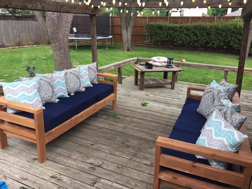 DIY Outdoor Sectional Plans  Ana White
