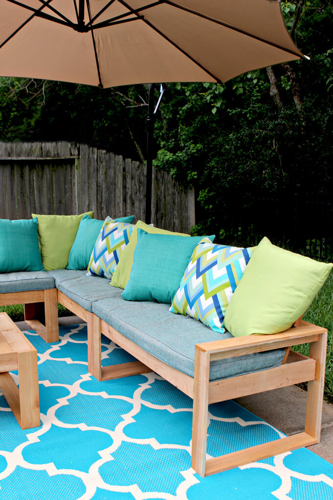DIY Outdoor Sectional Plans  Free DIY Outdoor Sofa Plans