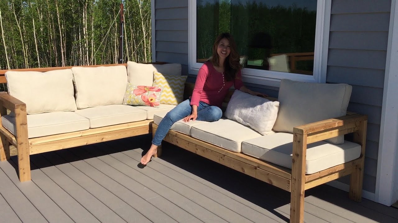 DIY Outdoor Sectional Plans  How to Build a 2x4 Outdoor Sectional Tutorial