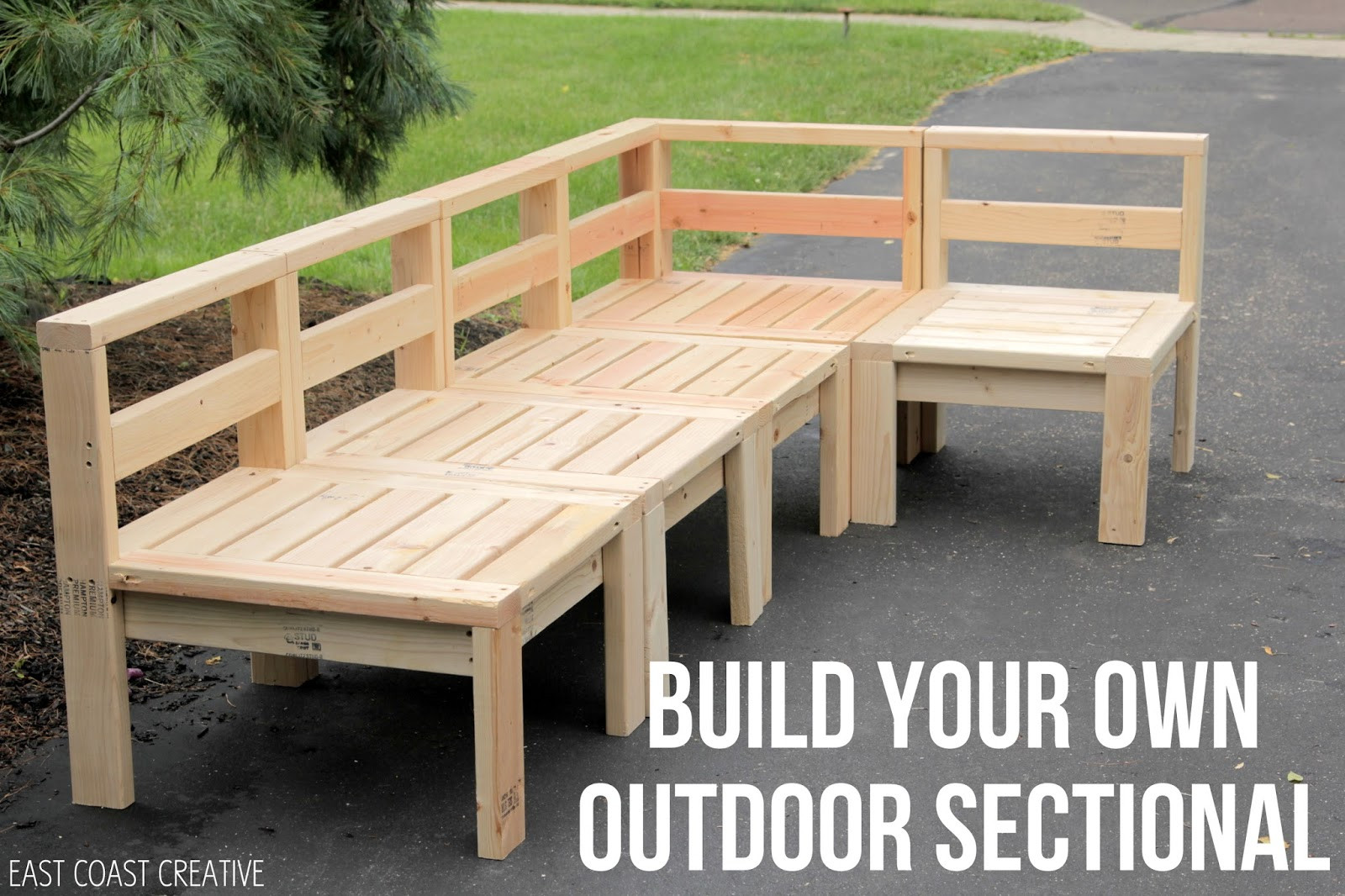 DIY Outdoor Sectional Plans  How to Build an Outdoor Sectional Knock It f