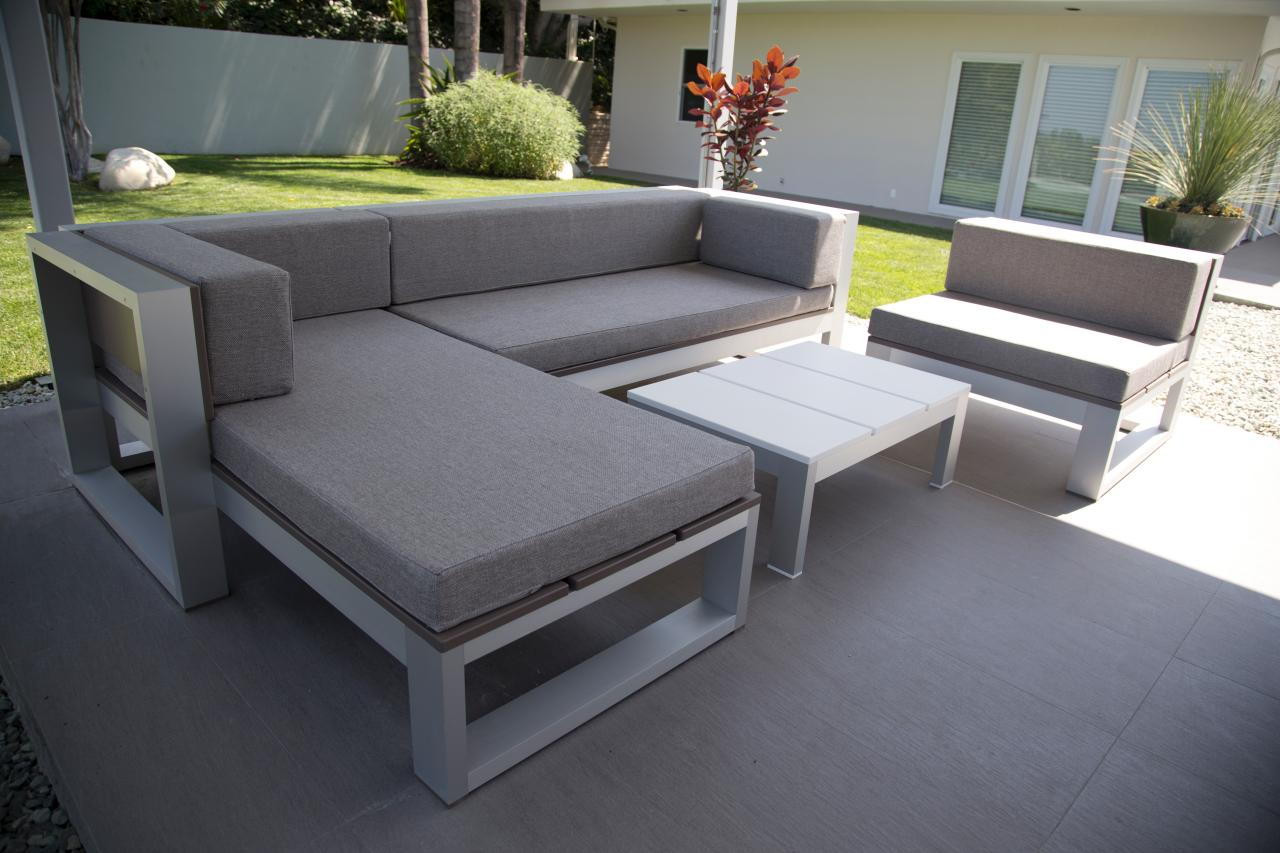 DIY Outdoor Sectional Plans  This is Relaxing 18 DIY Outdoor Furnitures Recycled